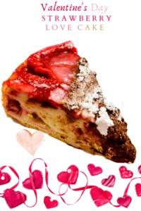 IMAGE OF STRAWBERRY HEART CAKE