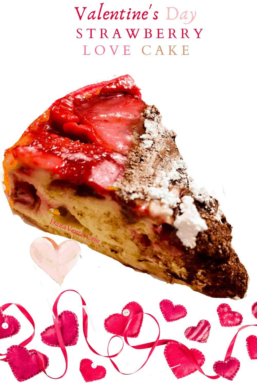 IMAGE OF STRAWBERRY HEART CAKE