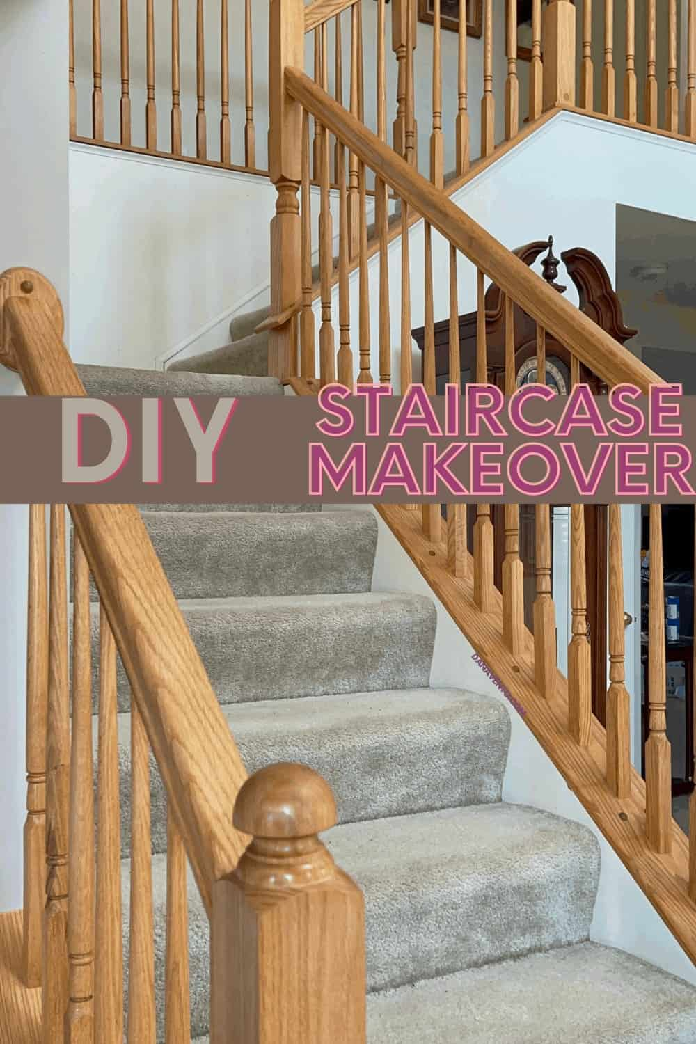 DIY Staircase Makeover BEFORE the makeover