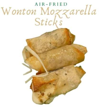 These Fabulously Crunchy Air-Fried Wonton Mozzarella Sticks Are Foodgasm Worthy