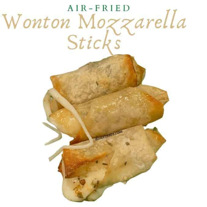 Fabulously Crunchy Air-Fried Wonton Mozzarella Sticks