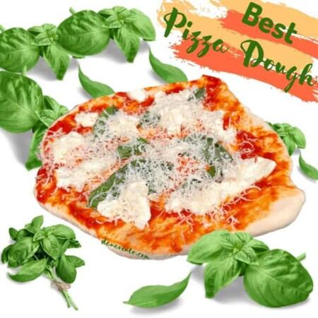 Best Pizza Dough as a Margerhita pizza