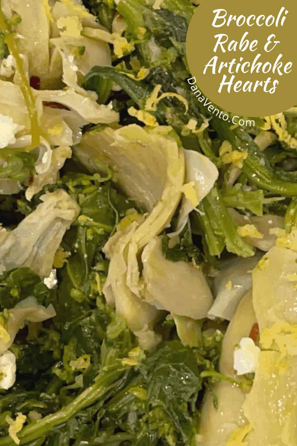 Broccoli Rabe and Artichokes hearts on plate