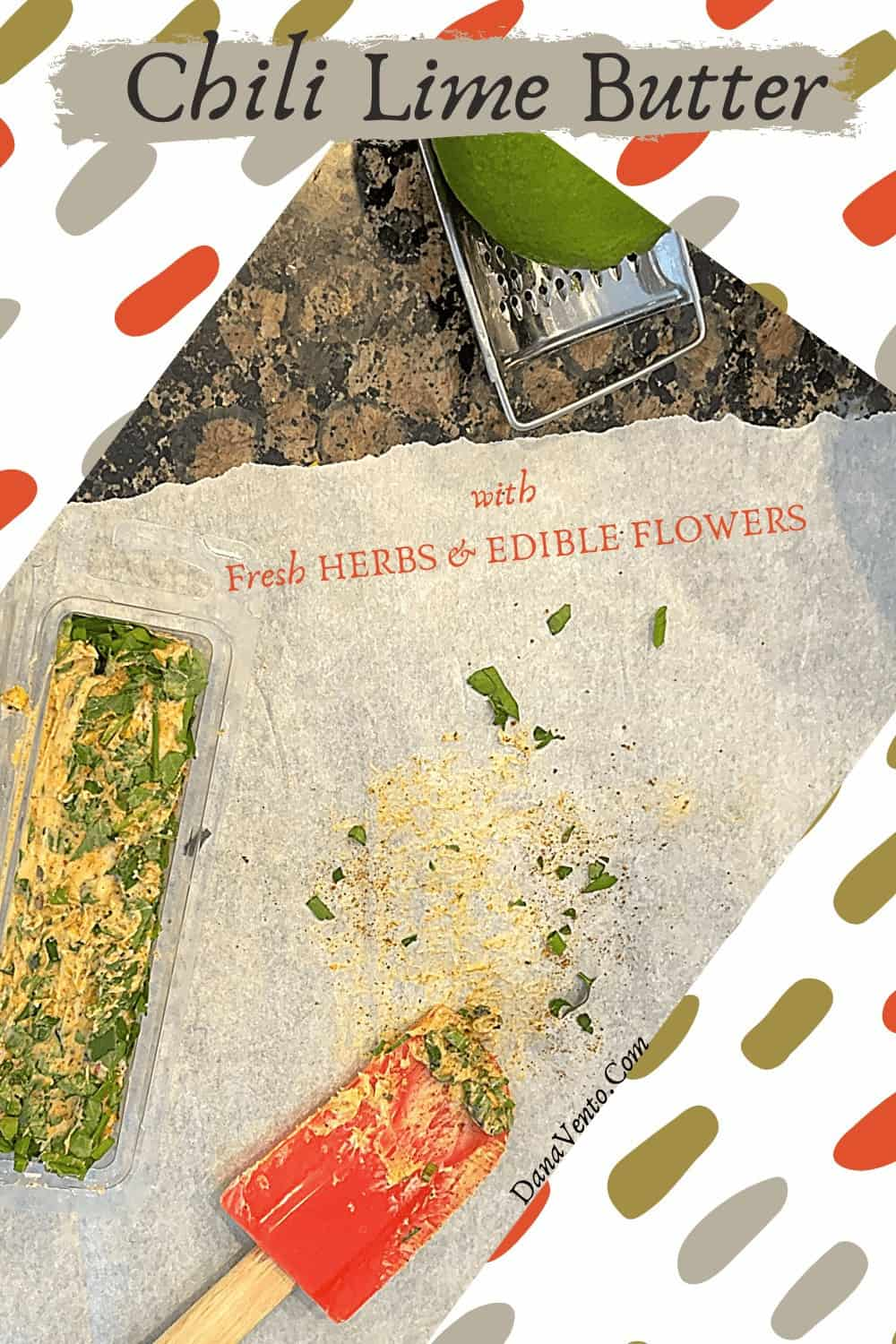 Lime Chili Herb Butter On Parchment Paper : kitchen essentials