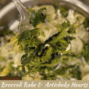 Broccoli Rabe and Artichoke Hearts