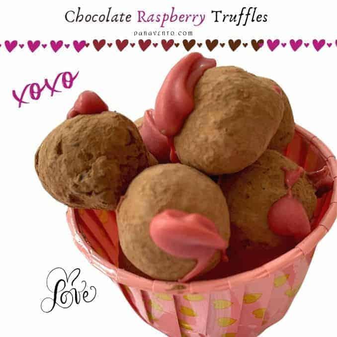 Decadent Hand-Crafted Gourmet Chocolate Raspberry Truffles