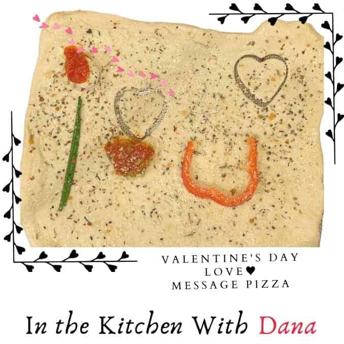 Valentine's Day Love Message Pizza