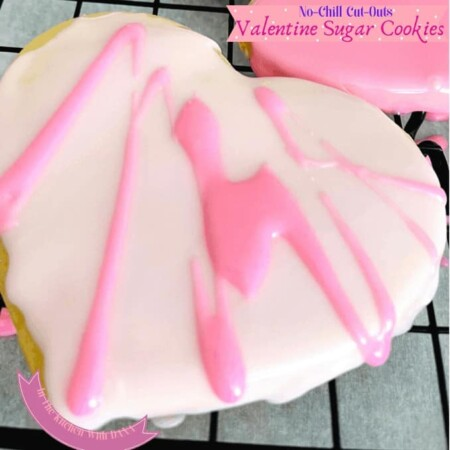 Heart cookie with royal icing