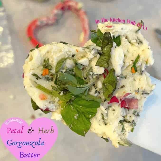 Savory Romantic Petal & Herb Gorgonzola Butter