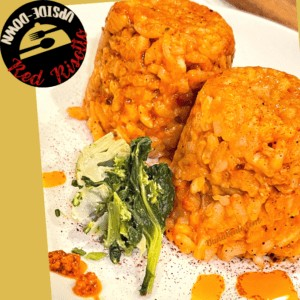 Upside-Down Red Risotto with 2 servings