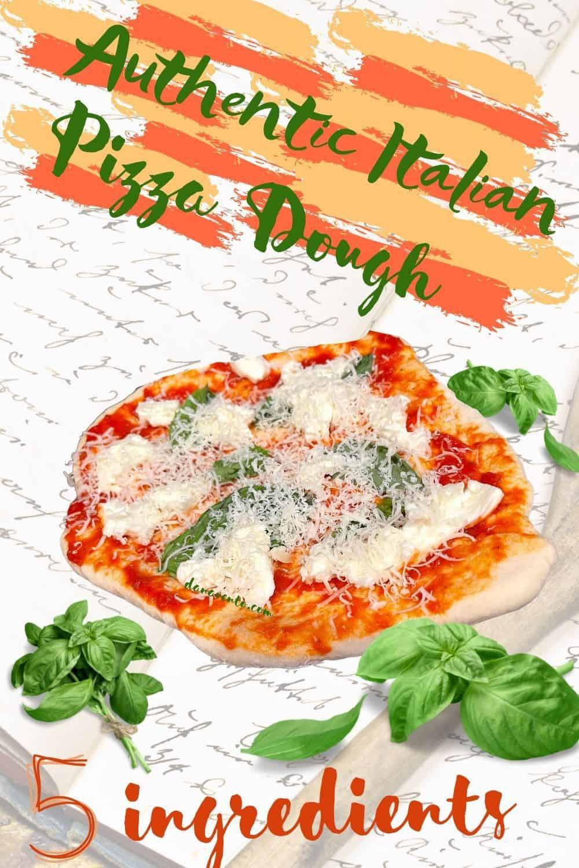 authentic Italian Pizza Dough 5 ingredients cookbook behindn
