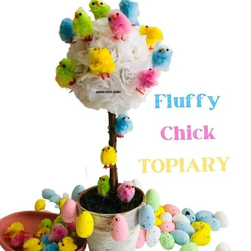 Easy Easter DIY: Fluffy Chick Topiaries in 10 Minutes!