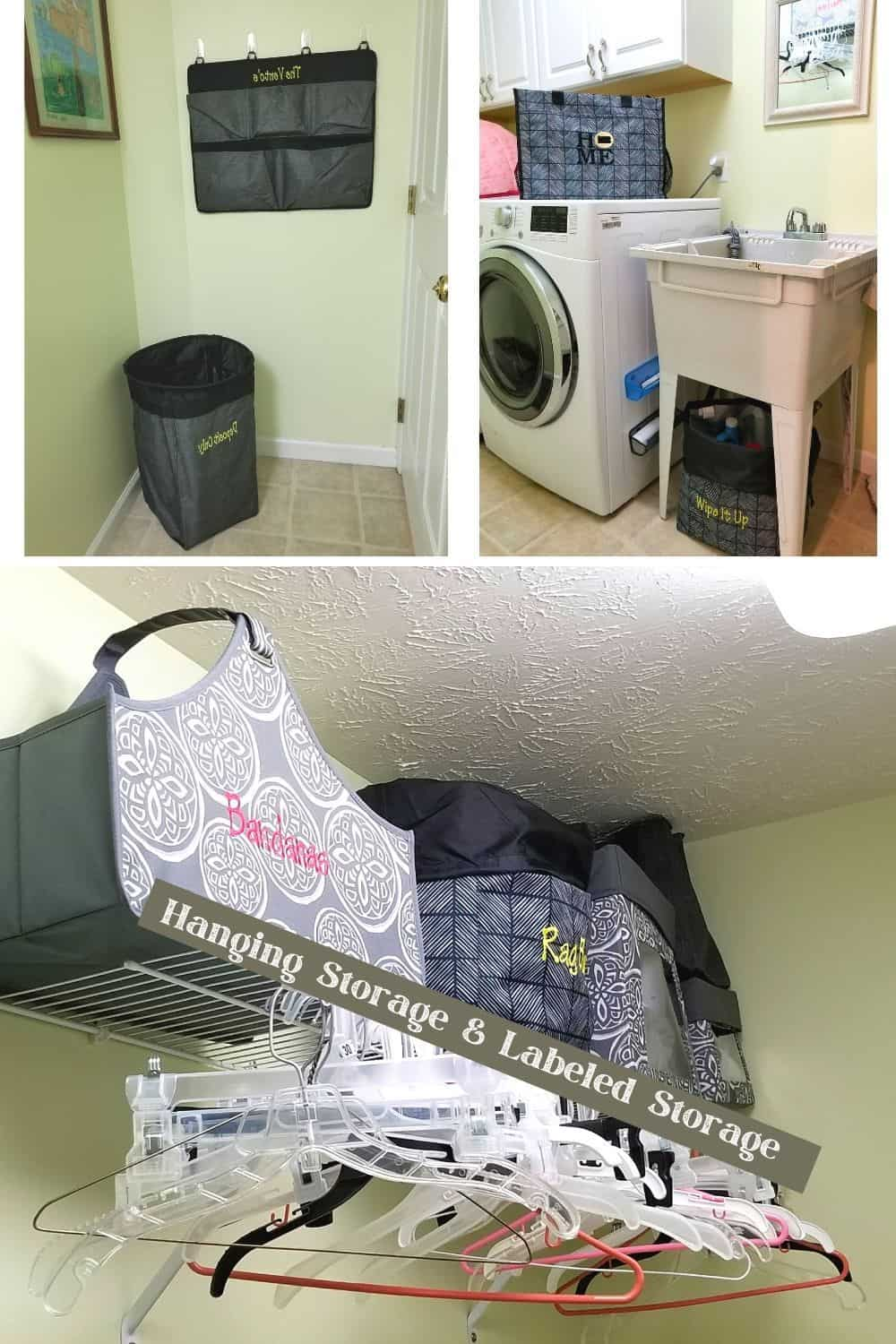 Declutter your home including the laundry room