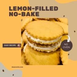 Lemon filled No Bake single stack