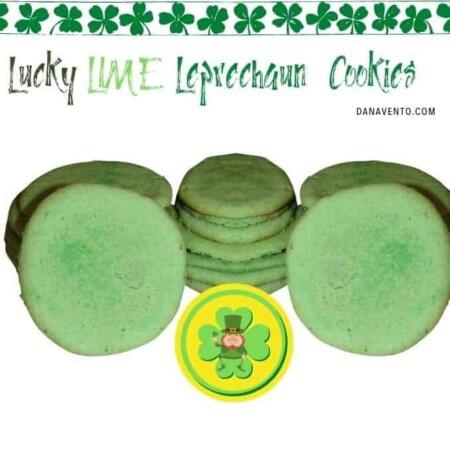 Lucky LIME Leprechaun Cookies with Leprechaun 2 stacks of cookies
