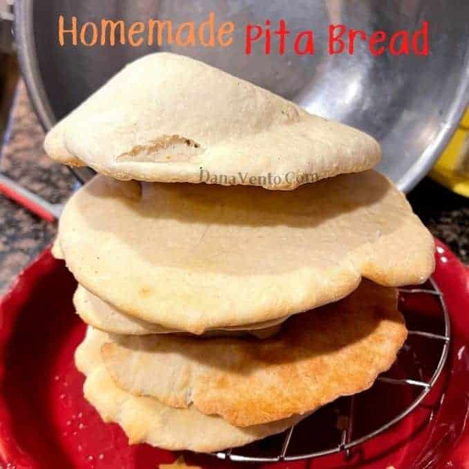 Homemade Pita Bread in 4 Minutes. Easy & Delicious.