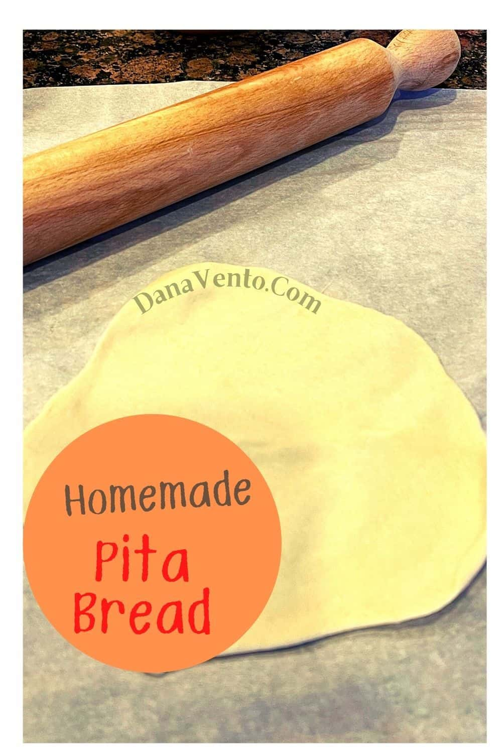 Pita Bread with Rolling Pin