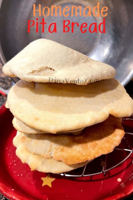 Pita Bread in a stack