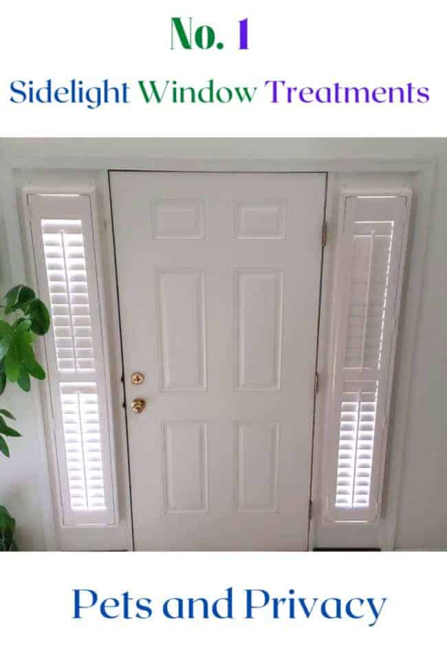 NO 1 Sidelight Window Treatments Pet and Privacy