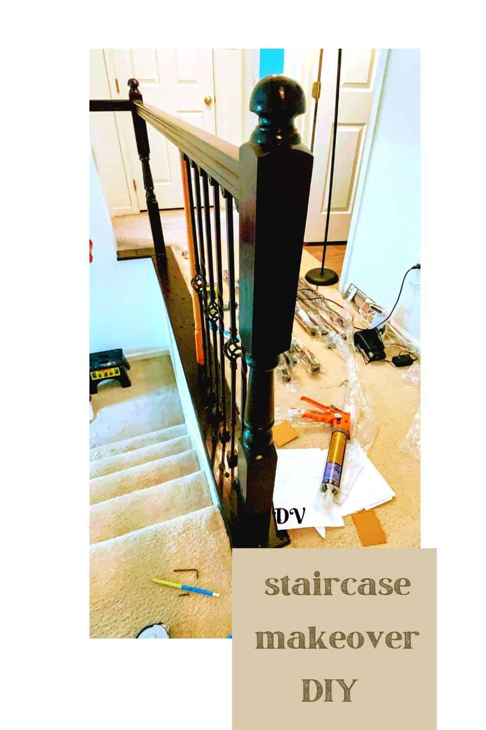Staircase makeover balusters
