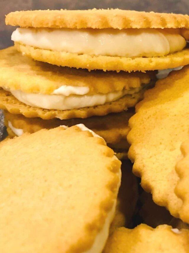 NO-BAKE Lemon-Filled Sandwich Cookies