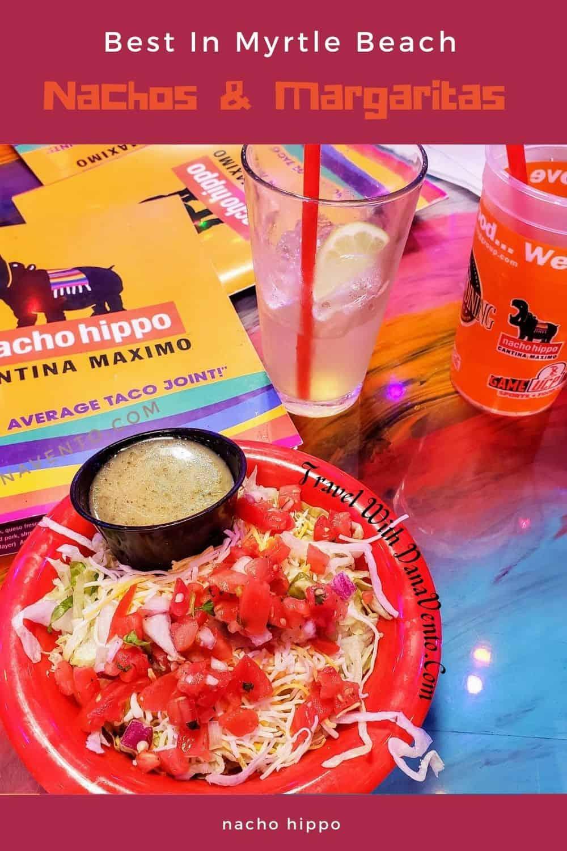 Best Nachos and Margaritas in Myrtle Beach salad and margaritas