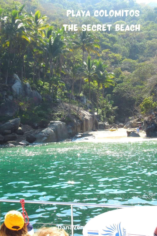 Copy of Secret beach of Puerto Vallarta Playa Colomitos shore