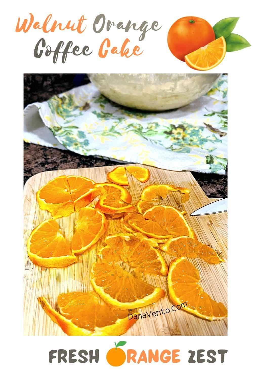 Walnut Orange Coffee Cake Orange slices