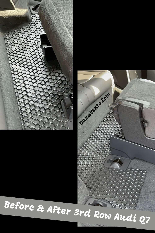After Custom Car Mats liner 3rd row Audi Q7