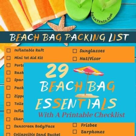 Open Umbrella Beach Packing List