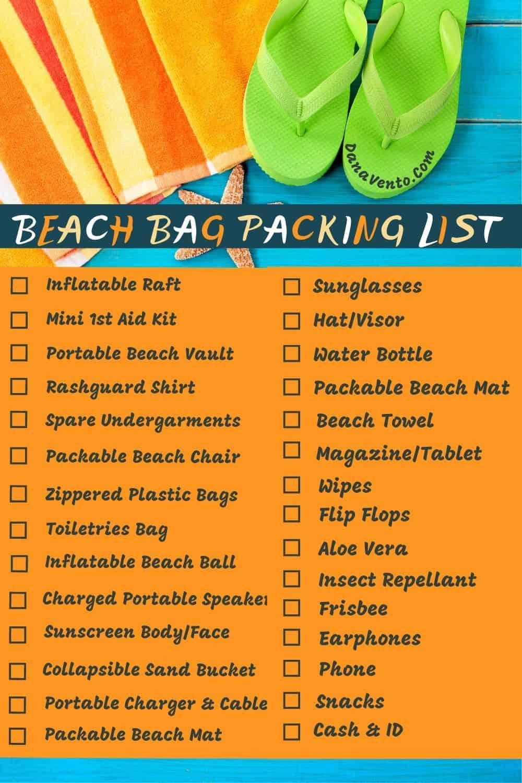 Pin Beach Packing List