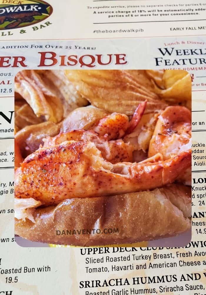 Put In Bay Boardwalk Eatery lobster roll