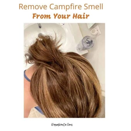 Remove Campfire Smell From Your Hair My hair over sink cleaning it