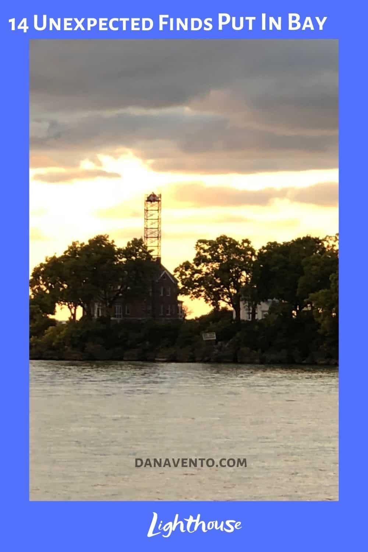 South Bass Island Lighthouse Cloud Background