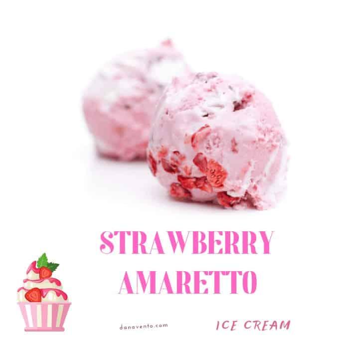 Strawberry Amaretto ice cream