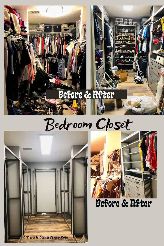 declutter your bedroom closet