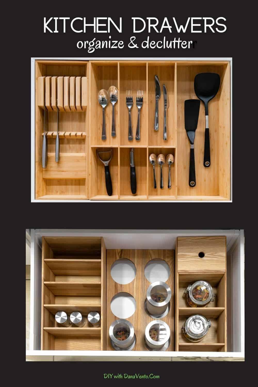 kitchen drawer organization to declutter your home