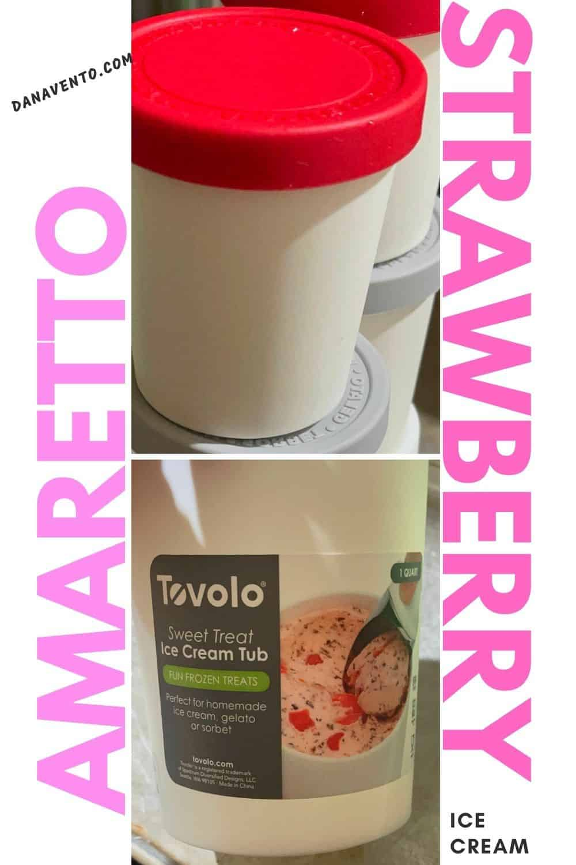 Strawberry Amaretto ice cream containers I used