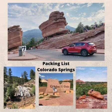 Colorado Springs Packing List Garden of the Gods Helen Hunt Falls