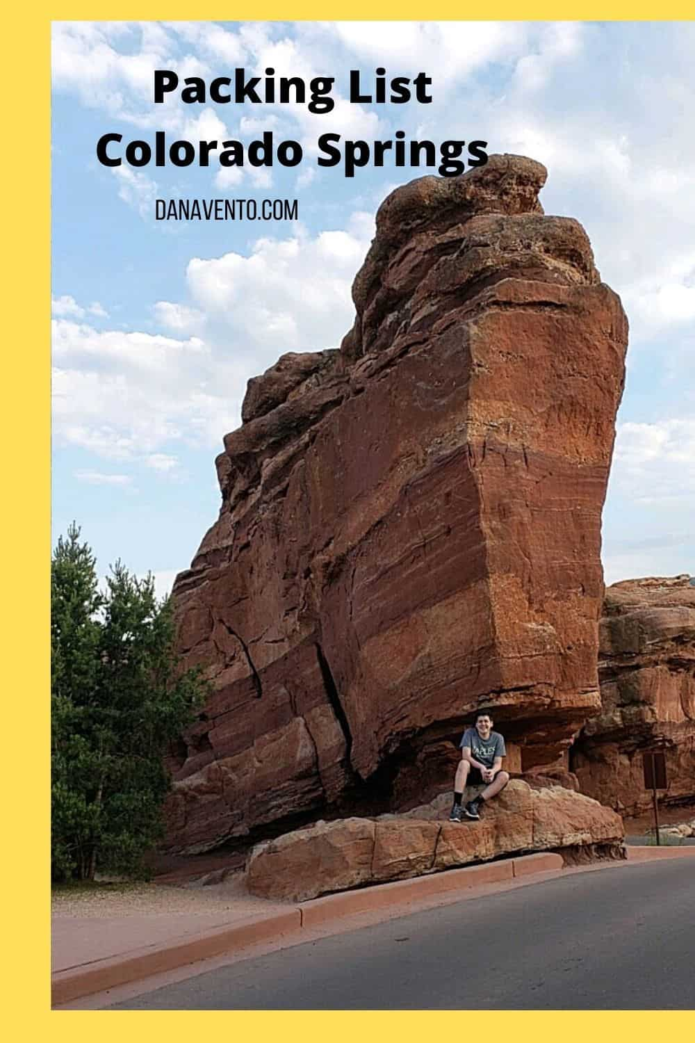 Copy of Colorado Springs Adaptable Summer Packing List garden of the Gods