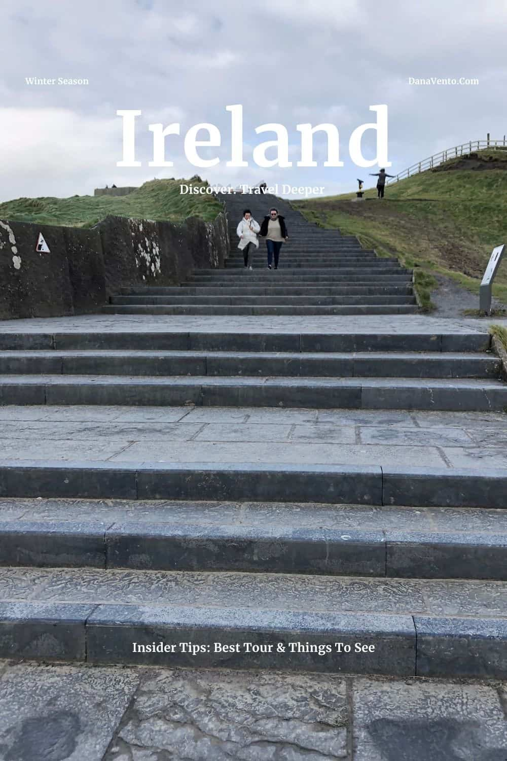 Ireland Cliffs of Moher Image with steps