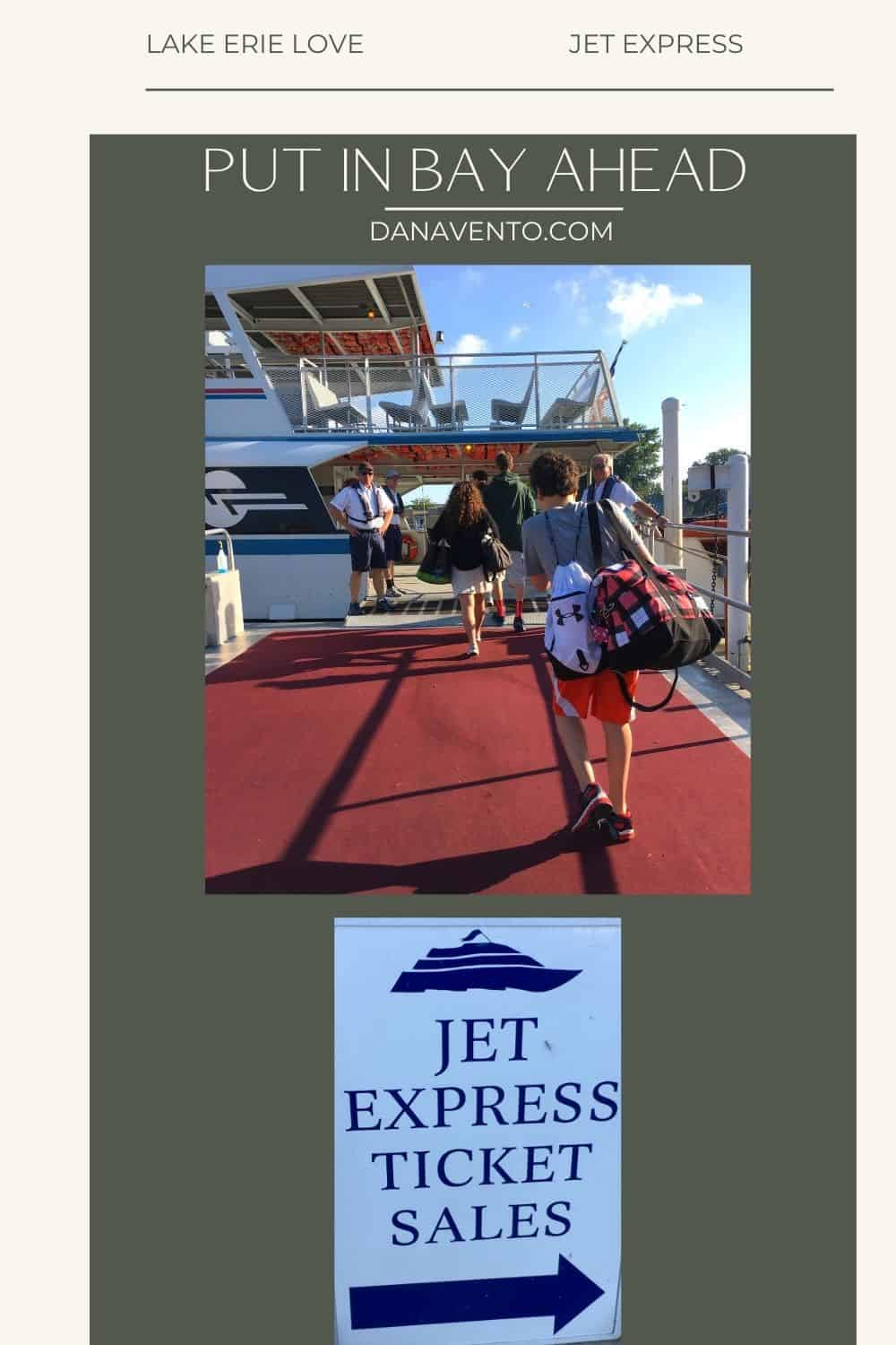 Jet Express Boarding Lake Erie Shores and Islands