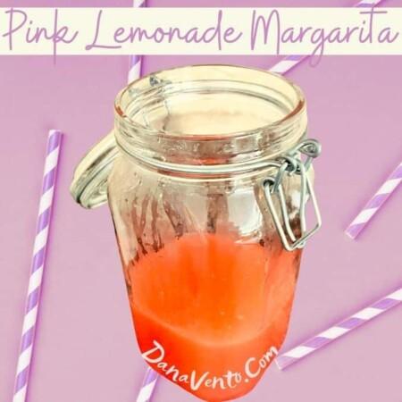 Pink Lemonade Margarita Straws