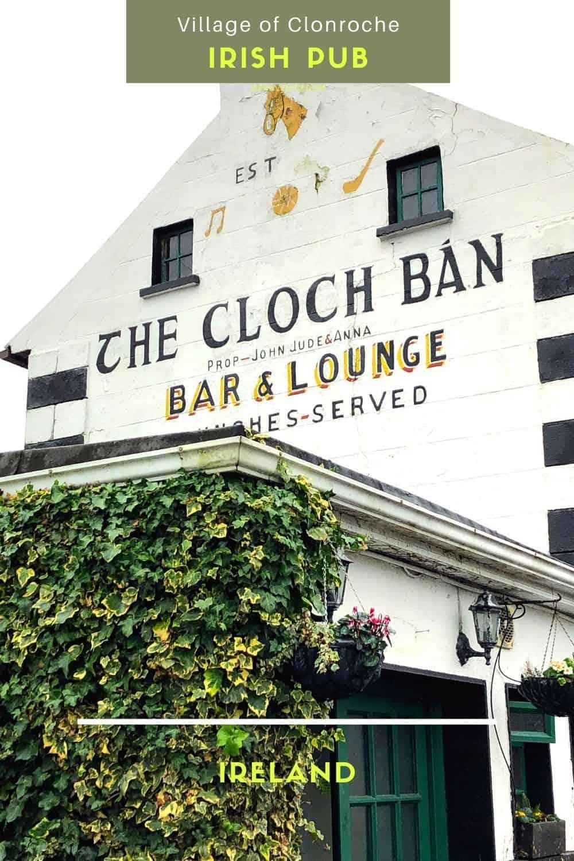 Village of Clonroche CLOCH BAN pub