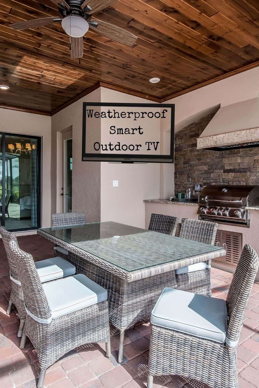 faux Weatherproof Smart Outdoor TV
