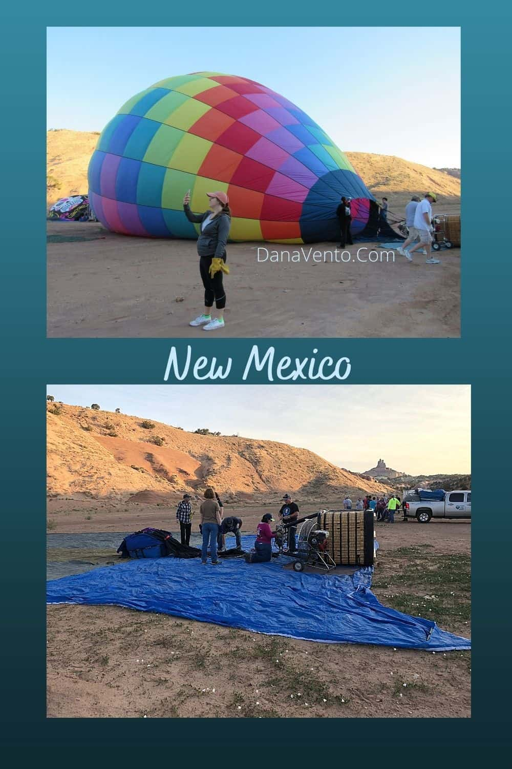 New Mexico at balloons dressed with jackets and pants