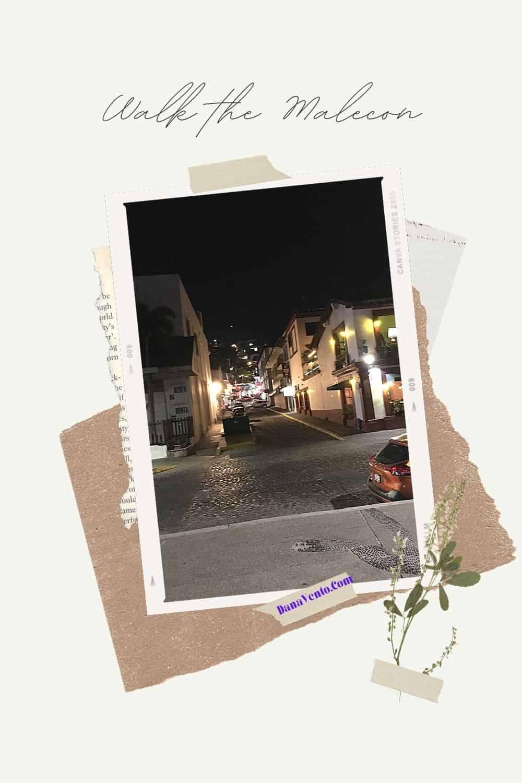 Puerto Vallarta Malecon by night