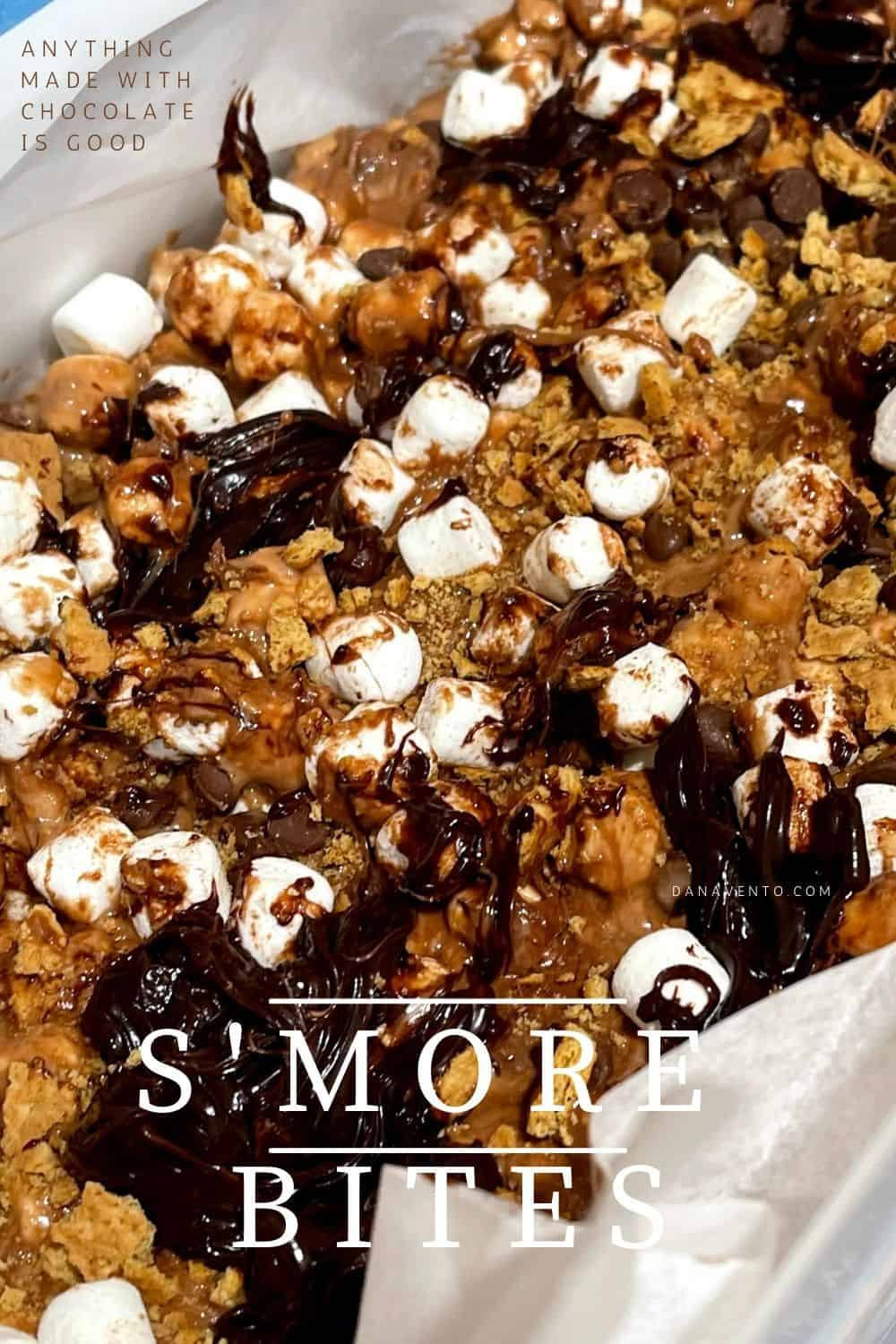 anything made with chocolate is good smore bites