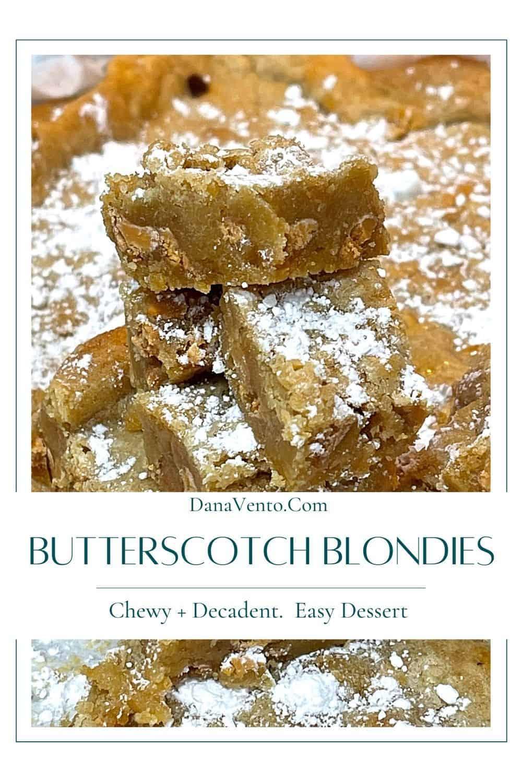 ultimate butterscotch blondies cut