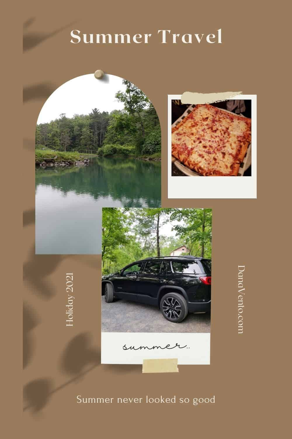 summer travel car and food
